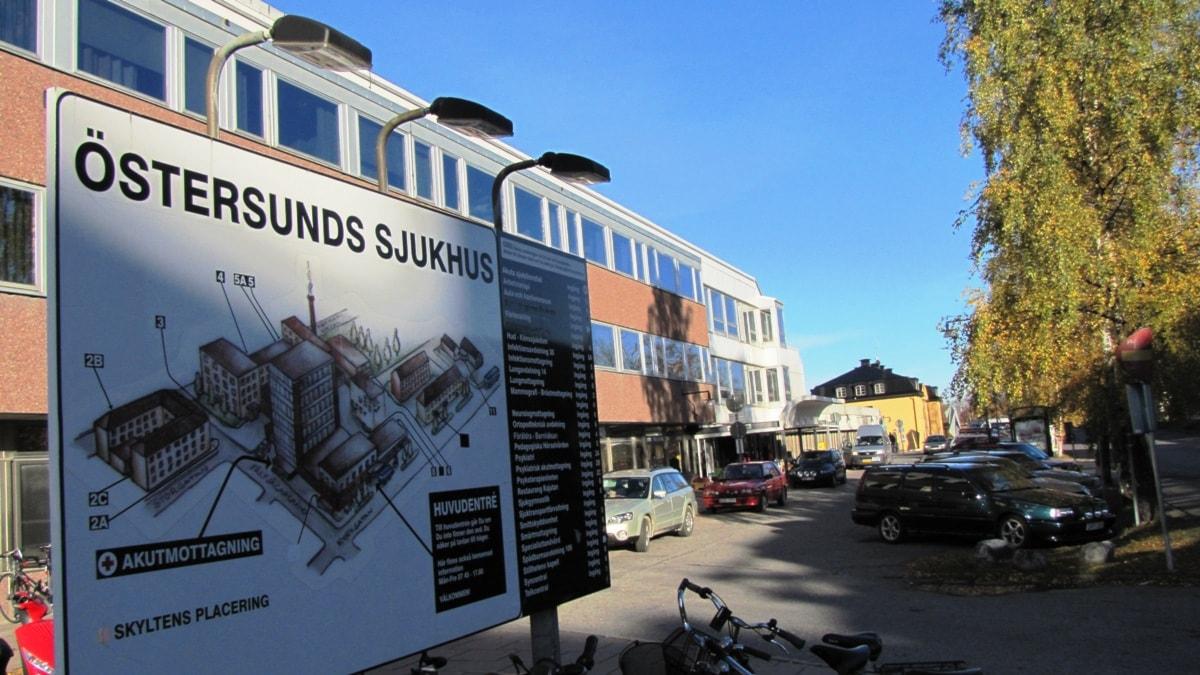 Utanför Östersunds sjukhus