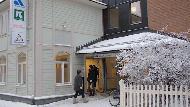 Arbetsförmedlingen i Östersund Foto:Jessica Brander/SR.