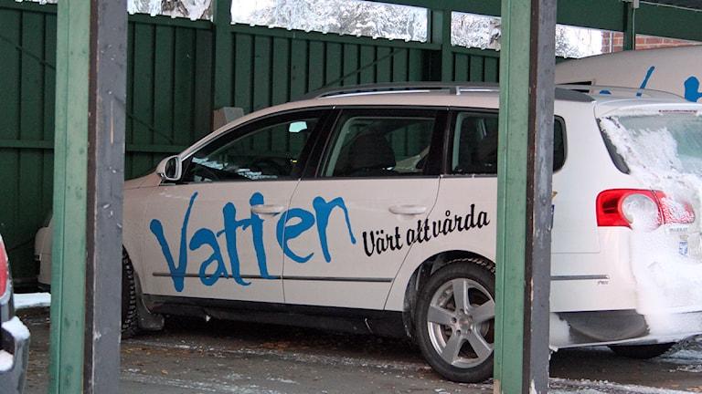 Vatten Värt Att Vårda - text på kommunens bilar