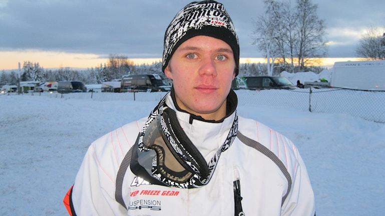 Petter Nårsa, Moskosels SK är bara 18 år men har redan vunnit Arctic Cat Cup två gånger Foto Anneli Johansson P4 Jämtland