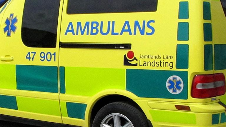 Ambulans - Räddningstjänsten Norra Jämtland Foto: Jan Mårdberg/Sveriges Radio