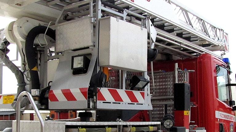 Brandbil - Räddningstjänsten Norra Jämtland Foto: Jan Mårdberg/Sveriges Radio
