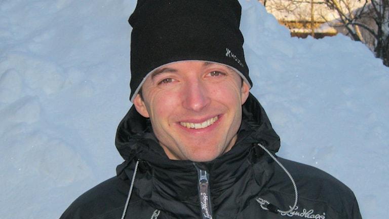 Joakim Halvarsson, chef på Storsjöbadet. Foto: Annelie Lanner/SR.