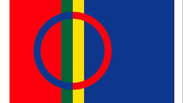 Den samiska flaggan. Bild: Sametinget.