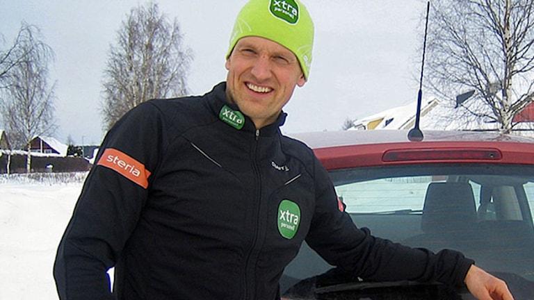 Skidåkaren Jerry Ahrlin. Foto: Anneli Johansson/SR.