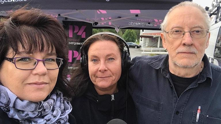 Anneli, Lindha och Mats.