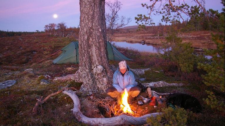 Kvällseld i Vålådalen. Foto Staffan Andersson