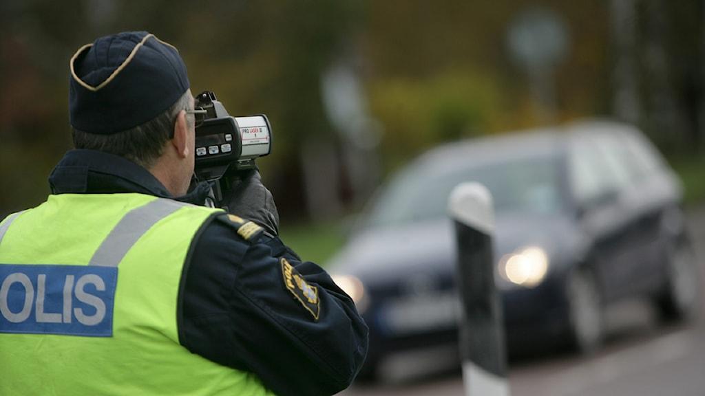 Arkivbild trafikpolis.  Foto: Fredrik Sandberg/TT.