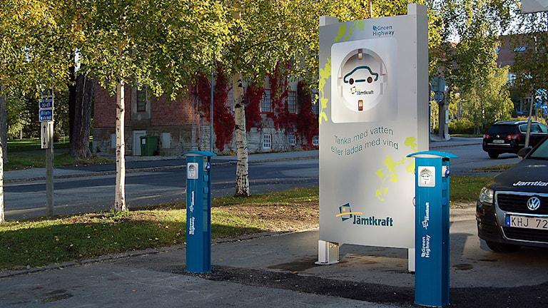 Tankstation för elbilar