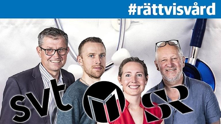 Ricky Karström, Daniel Hansson, Camilla Wahlman och Hans Lindeberg.