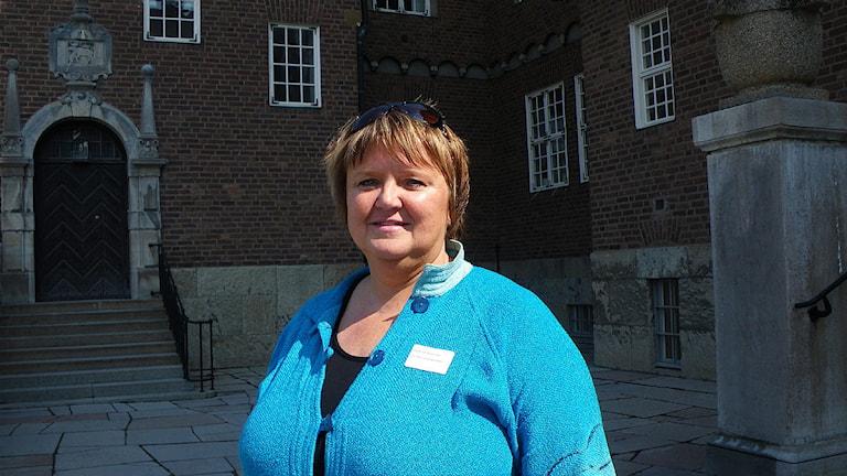 Kommunalrådet Annsofie Andersson. Foto: Ann-Louise Rönestål Ek/SR.