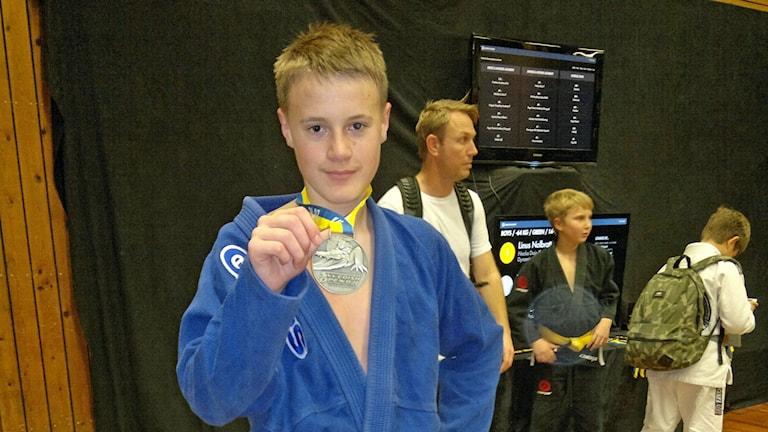 Manne Spångberg, en av ÖJK:s medaljörer vid Swedish Open. Foto: ÖJK