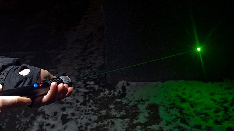 Laserpekare. Foto Scanpix