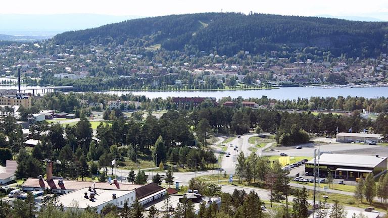 Utsikt från Arctura över delar av stadsdel norr. Foto: Jan Mårdberg/Sveriges Radio