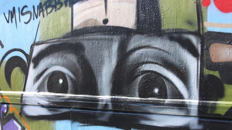 Grafitti av konstnären Daniel Diaz. Arkivfoto: Marcus Frånberg