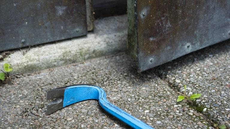 Inbrottsverktyg i form av kofot. Foto: Henrik Montgomery / SCANPIX