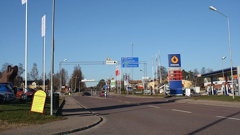 Korsningen i Sveg, centrala delarna. Foto: Emelie Andersson/Sveriges Radio