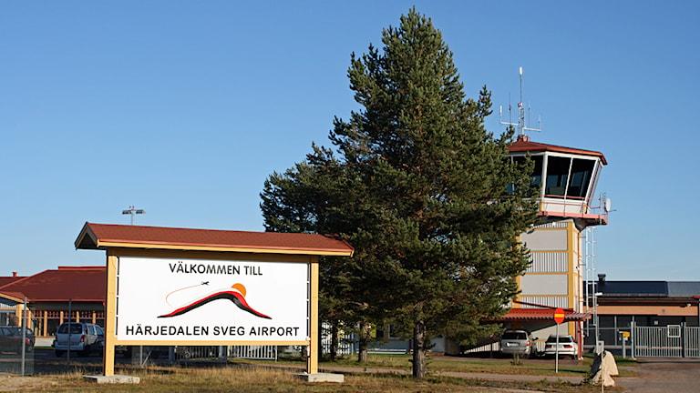 Flygplatsen i Sveg. Foto: Emelie Andersson/Sveriges Radio.