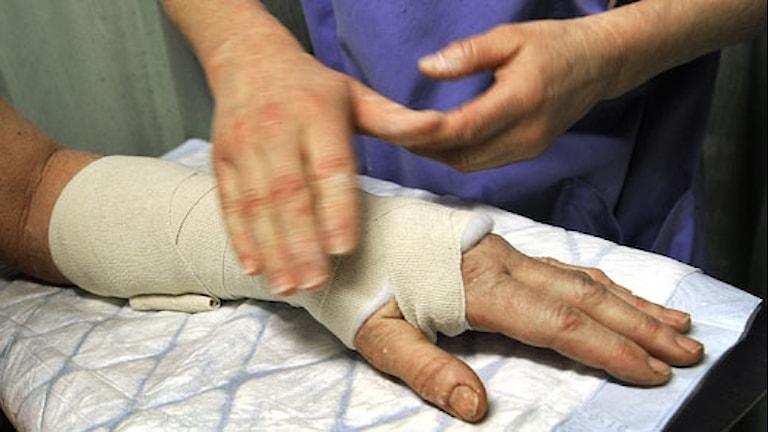 På ortopedakuten hamnar många halkoffer. Foto: Tomas Oneborg/SvD