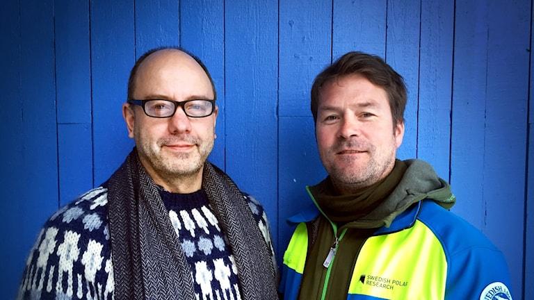 Klimatforskare Björn Gunnarsson, Stockholms universitet och Hans Linderholm, Göteborgs universitet.