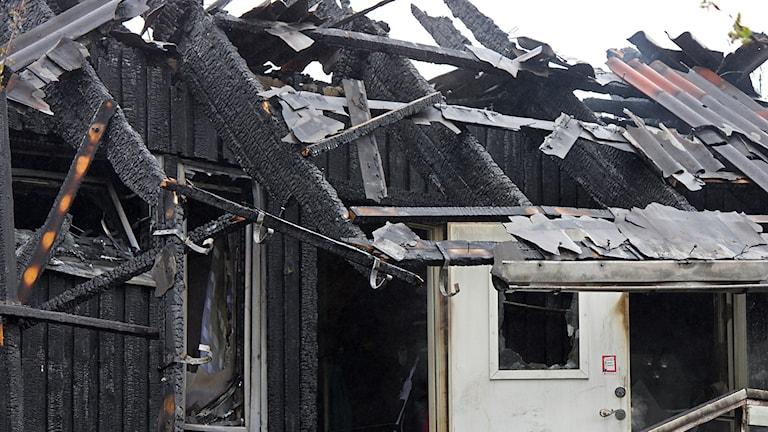 Utbränd lägenhet