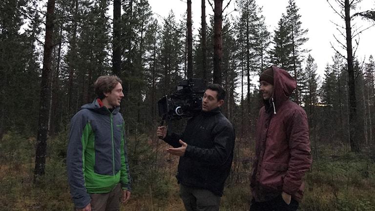 Filminspelning i Ytterhogdal.