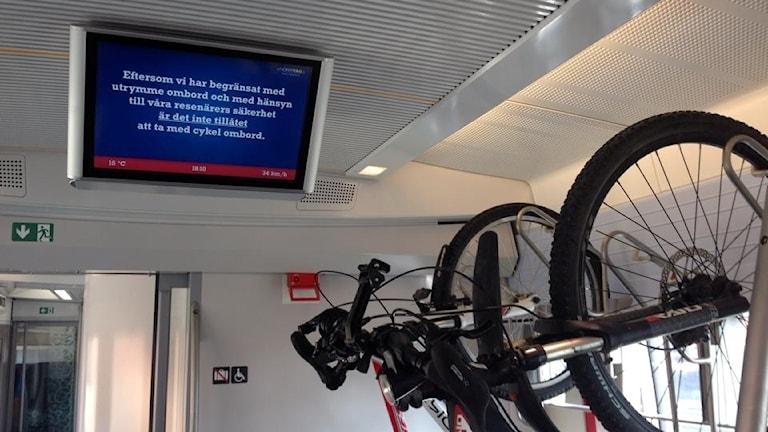 Cykelförbud på Norrtåg mellan Sundsvall och Trondheim. Foto Marcus Häggström
