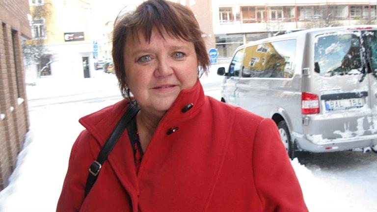 Annsofie Andersson är socialdemokratiskt kommunalråd i Östersund. Foto: Billy Abraha/Sveriges Radio.