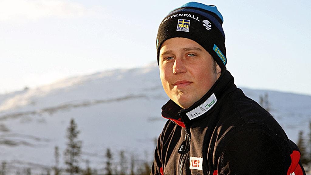 Sebastian Lindblom Edsåsdalens SLK  tävlar i speedski och skicross, Foto:Privat