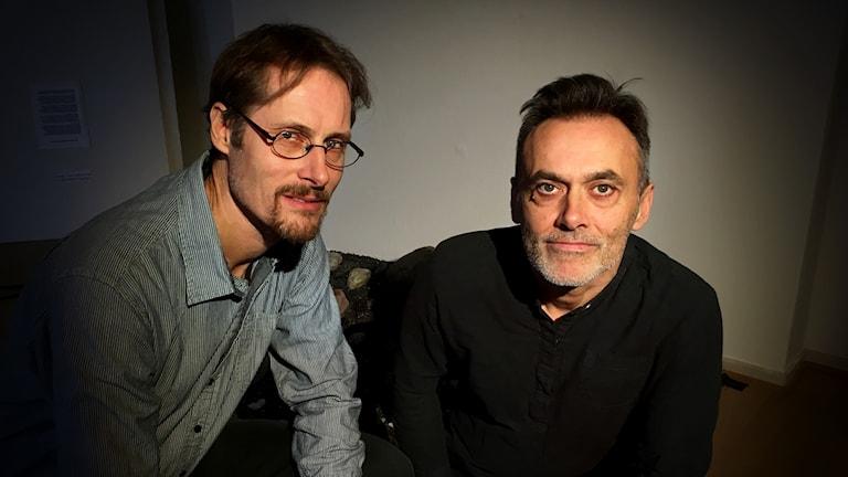 Konstnärerna Nils Agdler och Timo Menke gör utställningen Andropaus ihop.