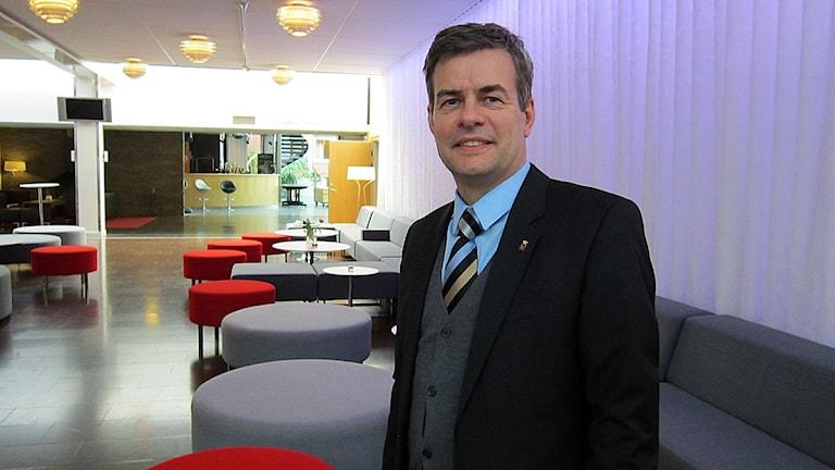 Pär Jönsson, moderat kommunpolitiker i Östersund. Foto: Sophia Weston