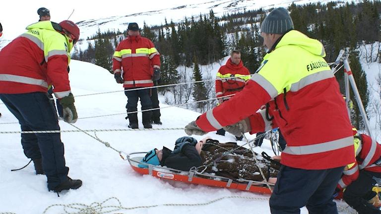 Fjällräddningens alpina grupp. Foto: Marcus Frånberg