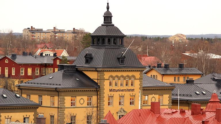 Mittuniversitetet från ovan Östersund. Foto: Matts Nylander.