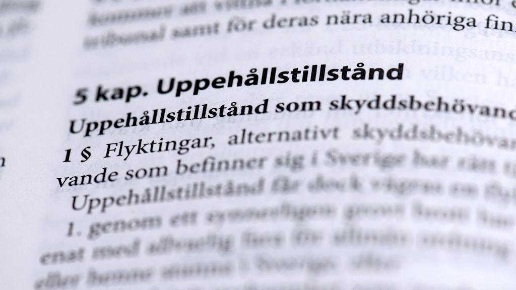 STOCKHOLM 20180104 Lagen om uppehållstillstånd, Sveriges lag Foto: Janerik Henriksson / TT