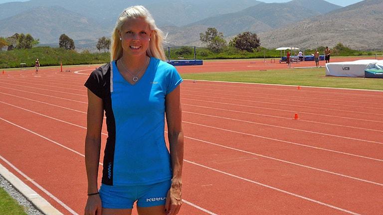 Erika Wiklund på löparbanan