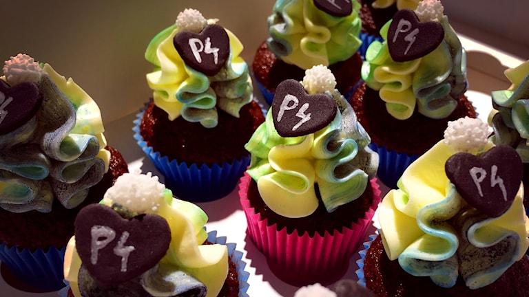 Cupcakes med P4-symbol