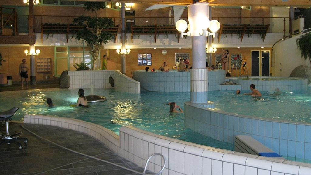 Äventyrsbadet på Storsjöbadet i Östersund.