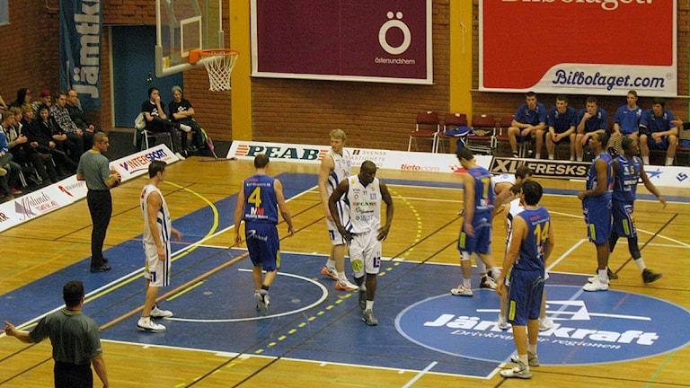 Jämtland Basket möter Solna Vikings Foto: Alf Levin/SR