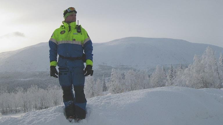 Richard Svedjesten Säkerhetschef i Bydalsfjällen. Foto Marcus Frånberg/Sverigesradio