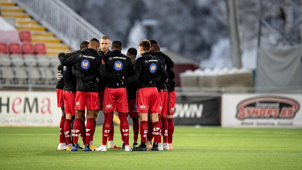 Östersund ställer upp inför söndagens fotbollsmatch i allsvenskan mellan Östersunds FK och IFK Göteborg på Jämtkraft Arena.