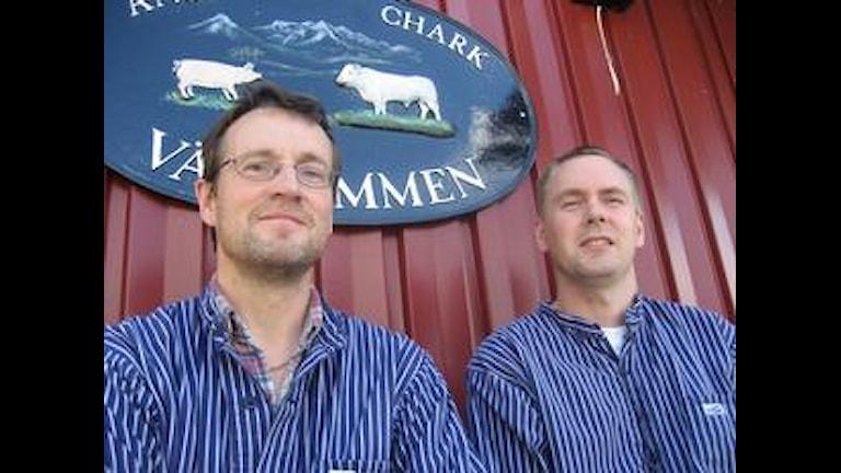 Leif Folkesson och Daniel Kock, två tidigare anställda på Änge Chark som nu blir delägare. Foto: Tommy Johansson