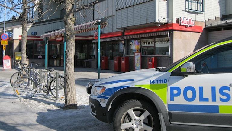 Var tredje omhändertagande i Östersund sker på busstorget. Foto: Alexandra Kerttu