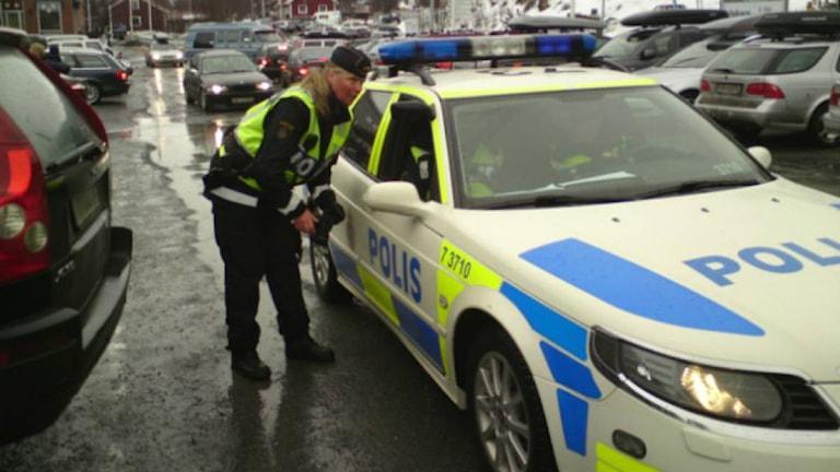 Eva Helin, polis, i Åre, påsken 2010. Foto: Annlouise Rönestål Ek/SR