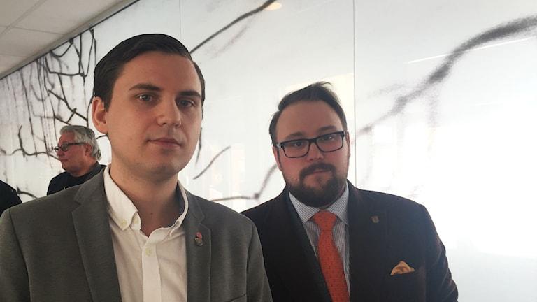 Niklas Rhodin (S) oppositionsråd i Krokom och Jonas Andersson (S) kommunalråd Ragunda.