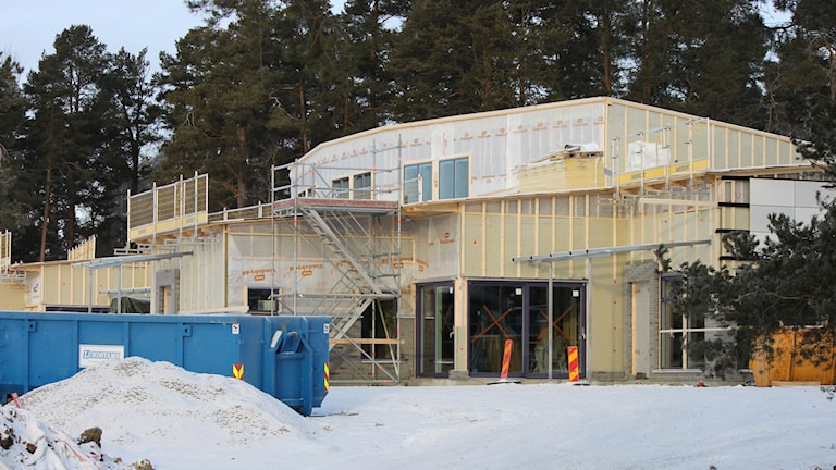 Remonthagens förskola under uppbyggnad