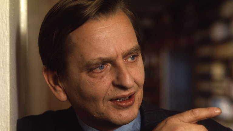 Olof Palme. Foto: SVT Bild.