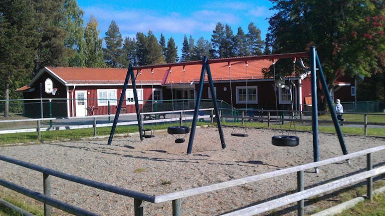 Bringåsens skola, tom lekplats