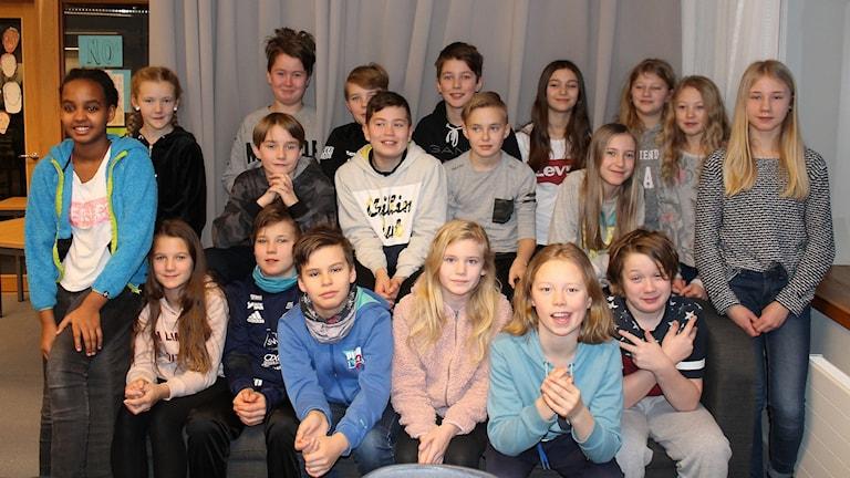 Sånghusvallens skola i Ås, klass 5