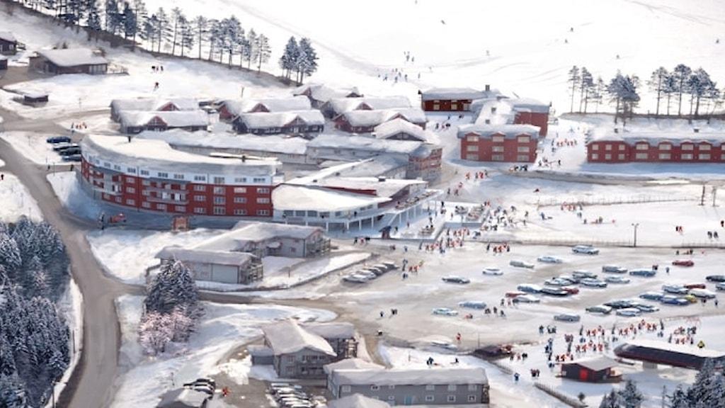 Skiss som visar utbyggnaden av Hotel Klövsjöfjäll. Foto: Destination Vemdalen/Pressbild