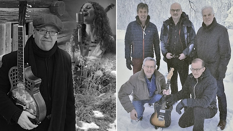 Montage - Bottleneck John och Mildrid samt Chilly Bay Band